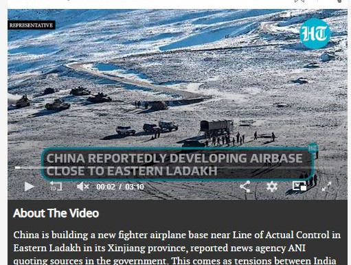 China building new fighter jet base near Ladakh, says amid LAC tension