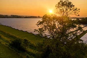 Solar farm in the English countryside at