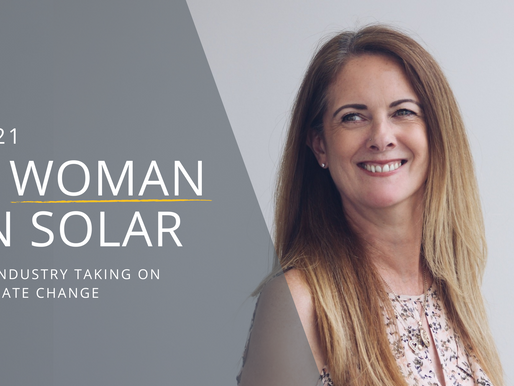 A woman in the solar industry: 2021