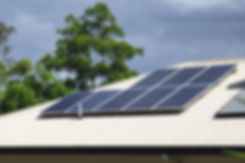 Solar photovoltaic panels installed on a