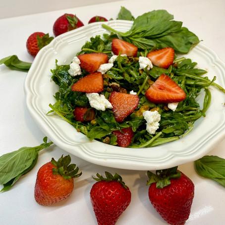 Strawberry Basil Arugula Salad