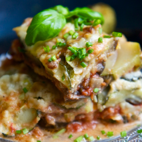 Vegetarian Lasagna Rolls with Pesto