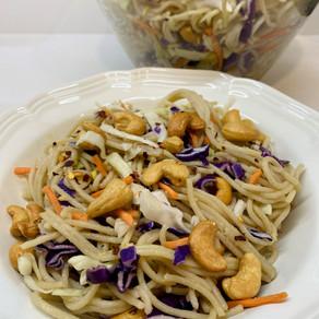 Quick Asian Rice Noodle Salad