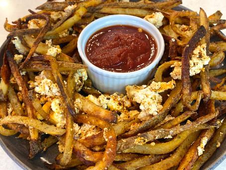 Crispy Garlic Baked Feta Fries