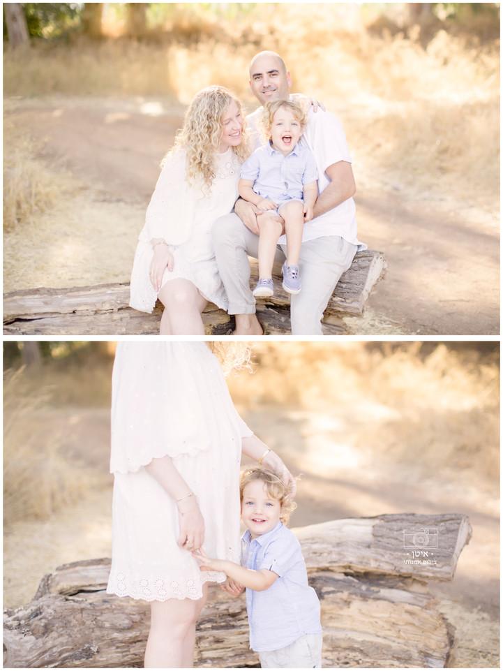 צילומי הריון בטבע לליאת, מתן ודניאל