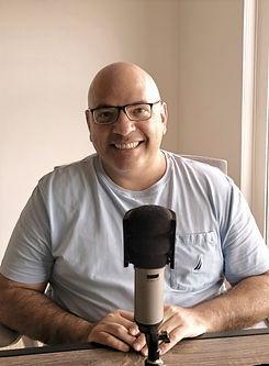 Jose recording Podcast