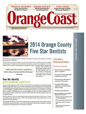 Orange county five star dentists