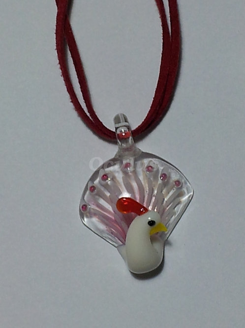 PEACOCK GLASS PENDANT