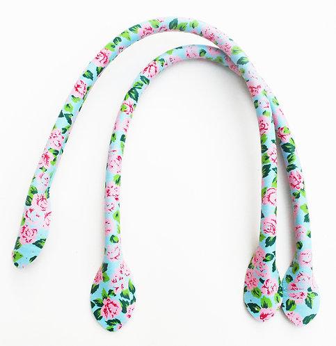 Blue Flower Bag Handles 40cm