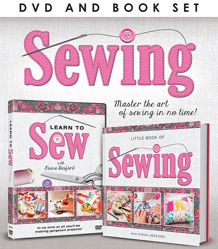"""""""Learn to Sew"""" DVD / Book Set"""