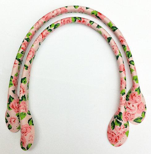 Pink Flower Bag Handles 30cm