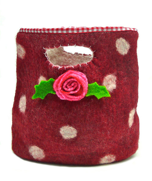 Mrs Christmas's Day Out Small Wet Felting Bag Kit