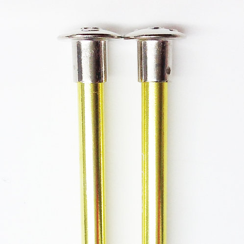 Knitting needles ALUM 5.0mm x 35cm yellow