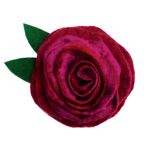 Plum Pudding Wet Felting Rose Corsage Kit