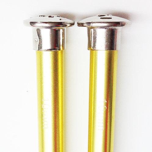 Knitting needles ALUM 10.00mm x 25cm yellow