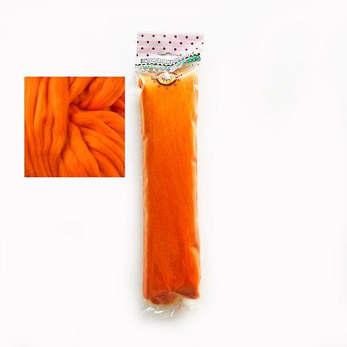 Merino Wool Tops for Felting 50g x 3 packs ORANGE