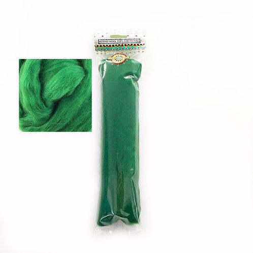 Merino Wool Tops for Felting 50g x 3 packs CHRISTMAS GREEN