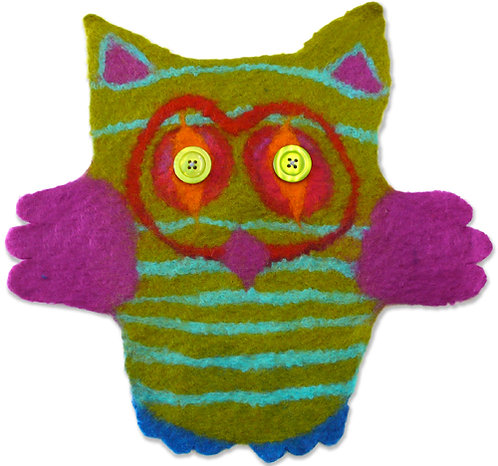 Colonel Nocturnal Kids Owl Wet Felting Kit