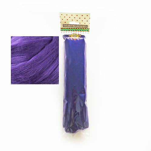 Merino Wool Tops for Felting 50g x 3 packs Purple