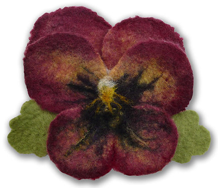 Poetic Pansy Wet Felting Corsage Kit