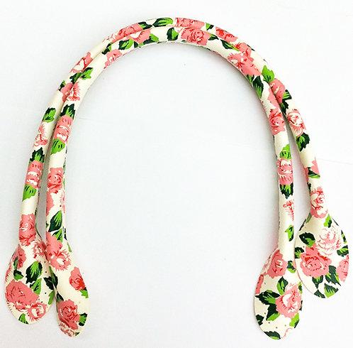 White Flower Bag Handles 30cm