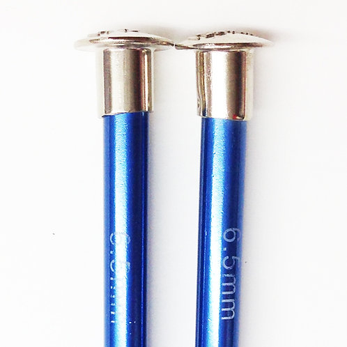 Knitting needles ALUM 6.50mm x 35cm blue