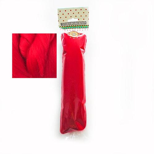 Merino Wool Tops for Felting 50g x 3 packs RED