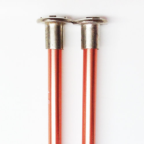 Knitting needles ALUM 4.5mm x 25cm pink