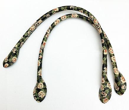 Black Flower Bag Handles 40cm