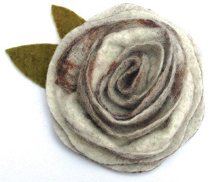 Sweet Sepia Wet Felting Rose Corsage Kit