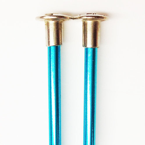 Kntting needles ALUM 3.5mm x 25cm turquoise