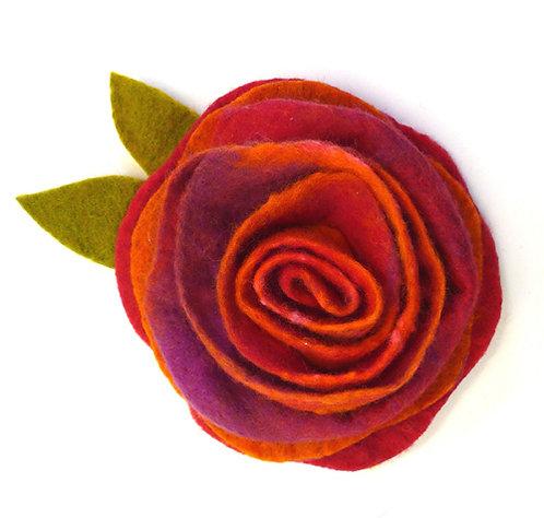 Sunset Sorbet Wet Felting Rose Corsage Kit