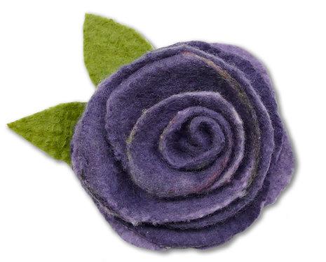Mauve Marvelosity Wet Felting Rose Kit