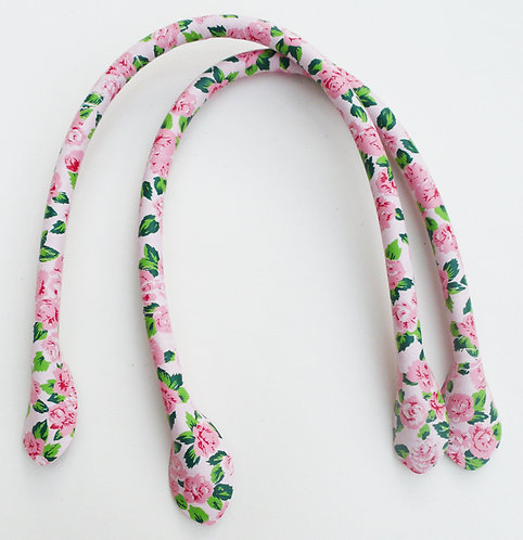 Pink Flower Bag Handles 40cm