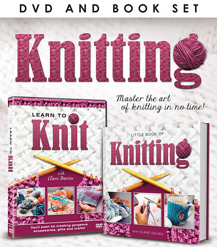 """""""Learn to Knit"""" DVD / Book Set"""