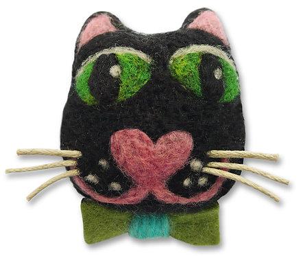 Captain Catpin Needle Felting Cat Brooch Kit