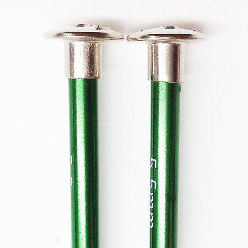 Knitting needles ALUM 5.5mm x 25cm green