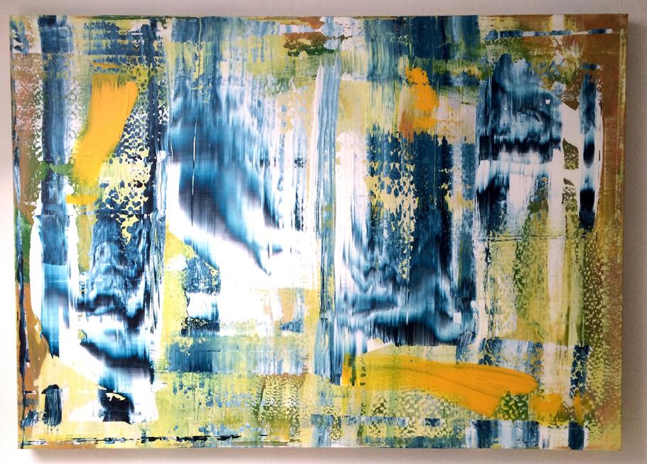 Abstrakt 18, Acryl, 2016, (100x140cm)