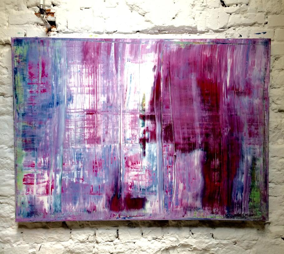 Abstrakt 19, Acryl, 2017, (140x100cm)