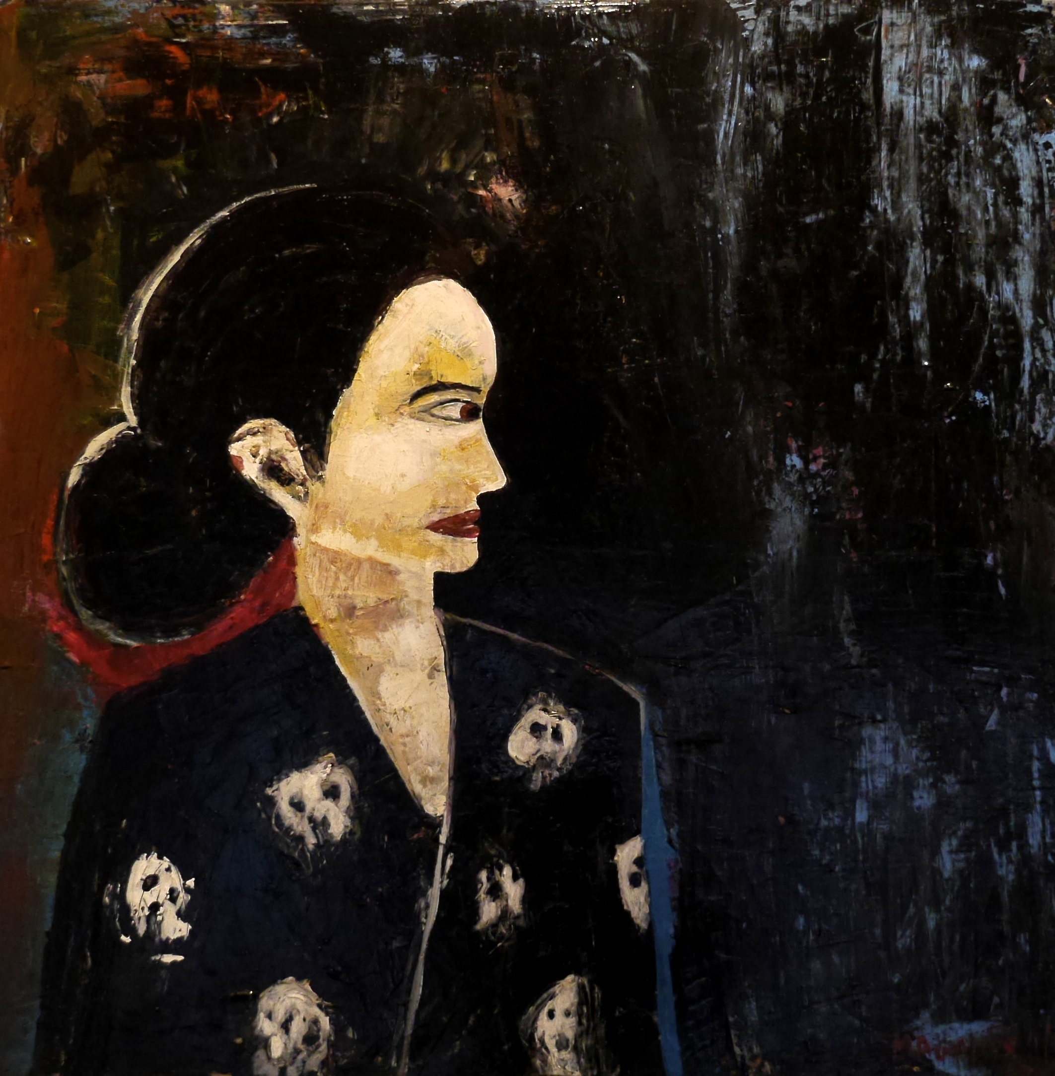 Woman in Scull - 75*75 cm