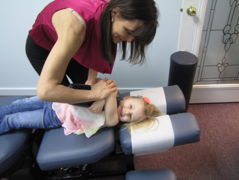 Young chiropractic patient