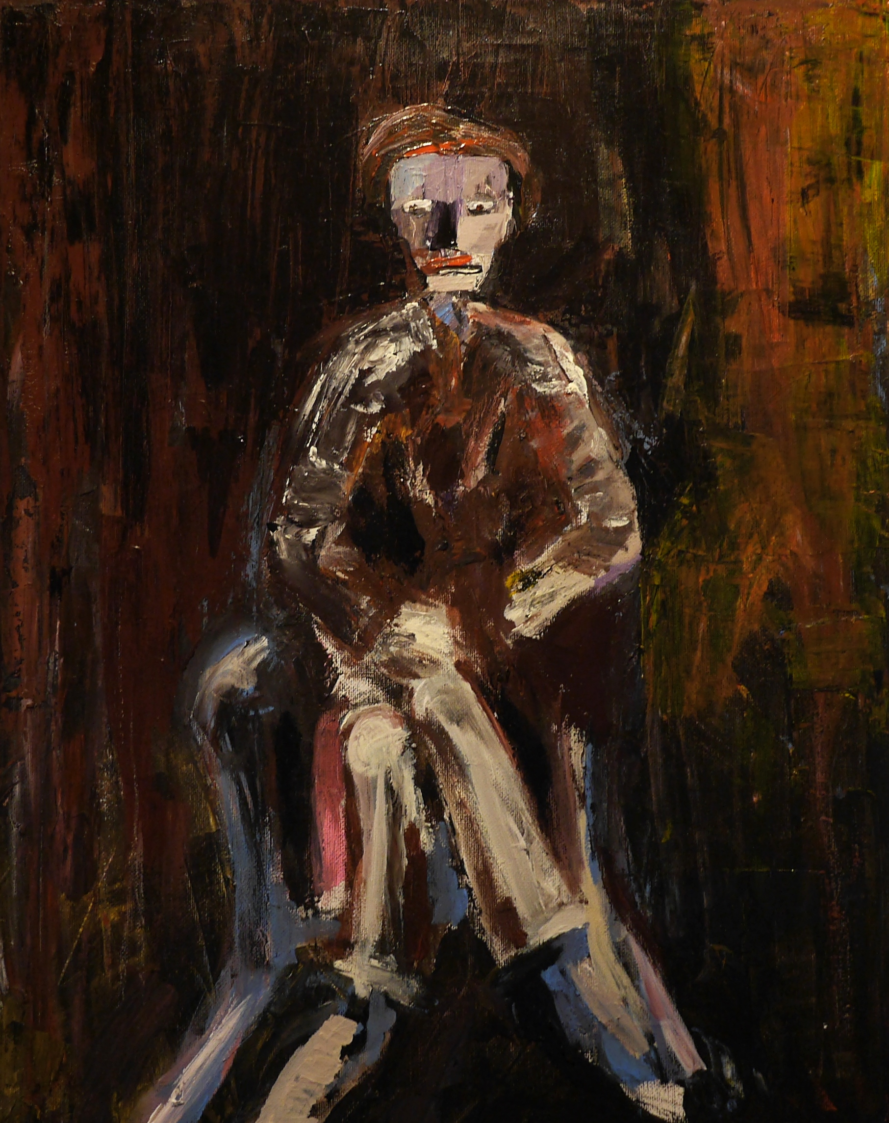 Man in a chair - 40*50 cm
