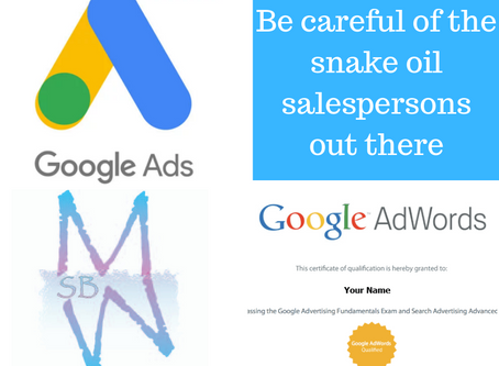 So your ppc agency is certified they say and is your SEO actually working?