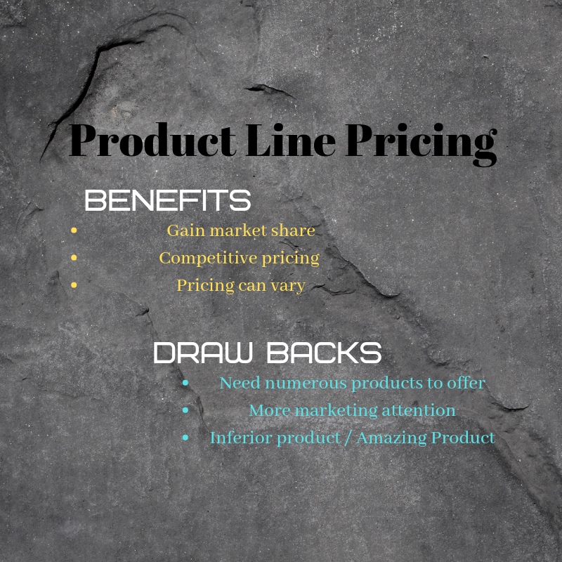 Product line pricing is becoming more popular with online software.
