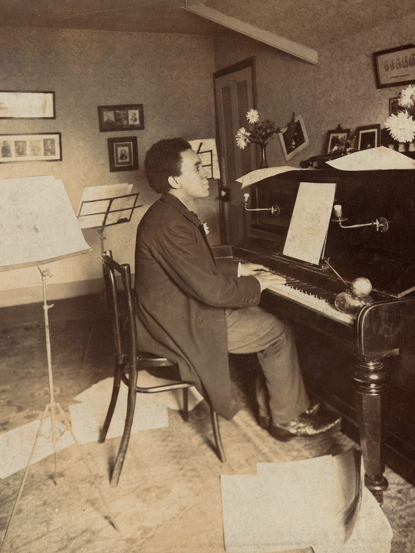 Samuel Coleridge-Taylor at the piano