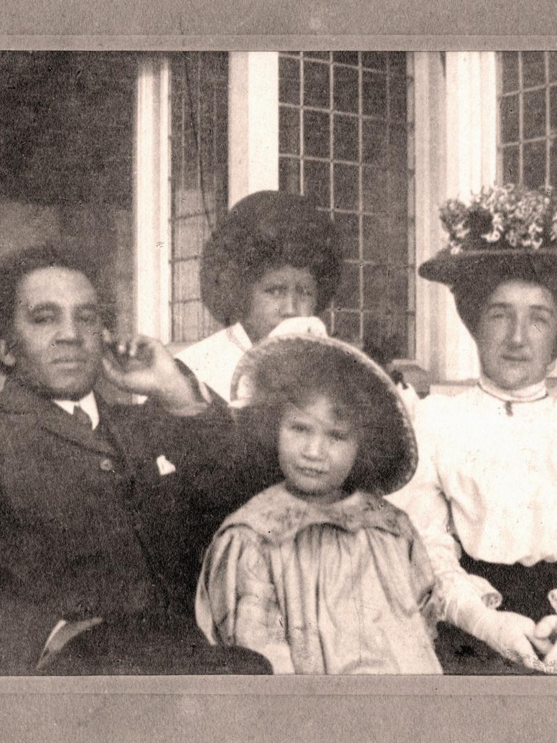 Samuel Coleridge-Taylor with family