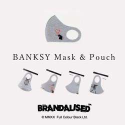 BANKSY Mask & Pouch