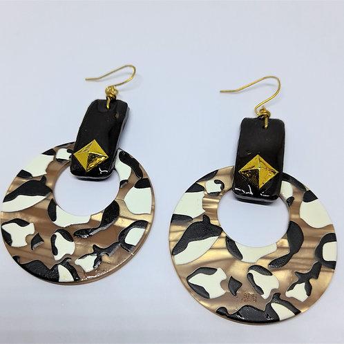 Essie Brown Marble Earrings