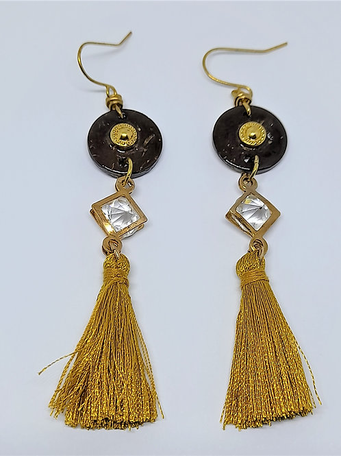 Azura Dangling Earrings in Gold Finishing