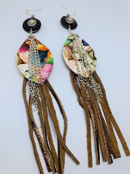 Dalya Dangling Leather Earrings